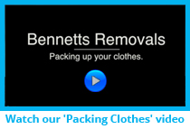 Bennetts Removals ~ Clothes Packing Clothes Video
